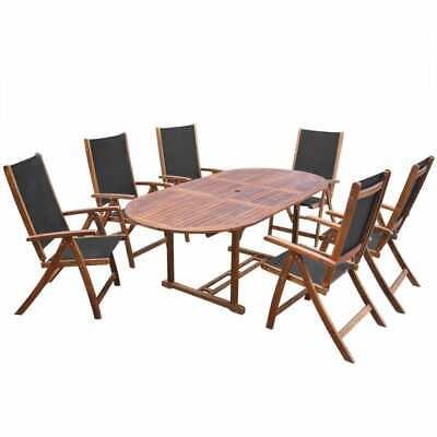 vidaXL Set de Muebles de Jardin 7 Piezas Madera Acacia Mobiliario de...