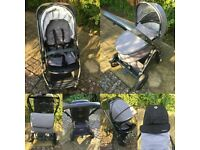 Oyster 2 Travel System, city grey, inc. carrycot and stroller