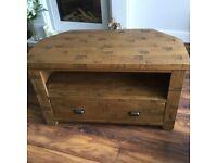 Solid Oak TV unit & coffee table