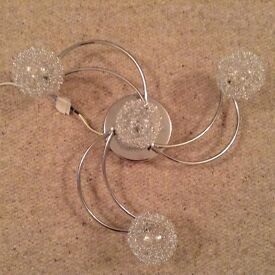 Brand New In Boxes x 2 Chrome Finish Flush Ceiling Lights
