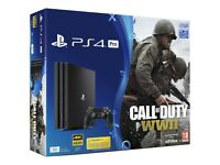 PS4 pro 1tb with Call of Duty ww2