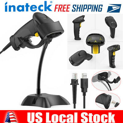 Inateck 1d Usb Wired Barcode Scanner Laser Barcode Scanner With Stand