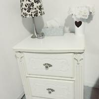 White Bed Side Table