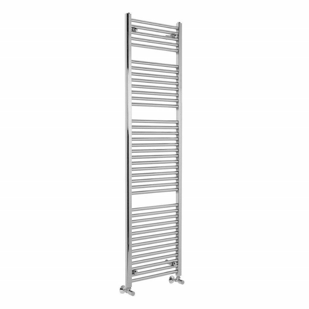 Contemporary Straight Bathroom Heated Towel Rail Radiator Rad 1800 x 500 Chrome