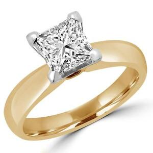 SOLITAIRE PRINCESS CUT DIAMOND ENGAGEMENT RING 1.25 CARAT / BAGUE DE FIANCAILLES DIAMANT SOLITAIRE PRINCESSE 1.25 CT