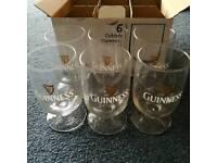 Guinness branded goblet glasses