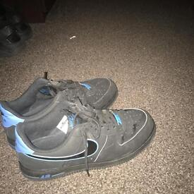 Air Force 1 Black/Blue Size 8 BOXED