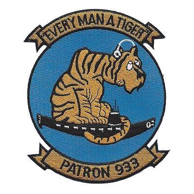 USN VP-933 Patrol Squadron Navy Military Patch PATRON 933 EVERY MAN A TIGER