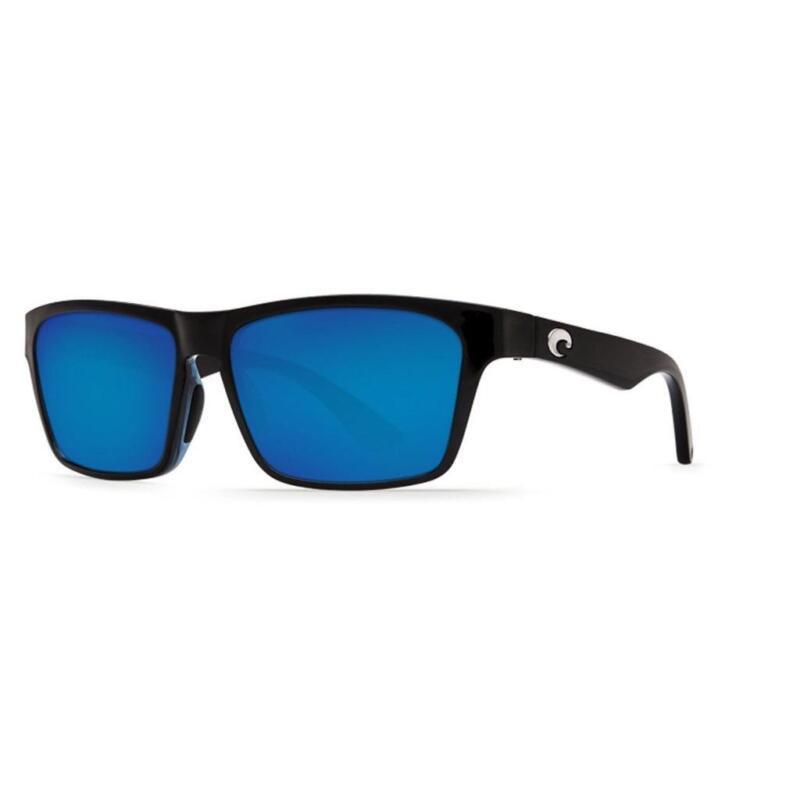 Costa del Mar Hinano 580G Glass Polarized Sunglasses Black/Blue Mirror