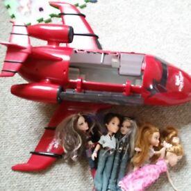Bratz Rock Angelz Party Red Jet Plane