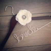 Personalized Bride and Bridesmaid Wedding Dress Hangers