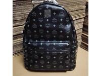 MCM Stark Backpack Gothic Black Rucksack Men's Bag Designer Large