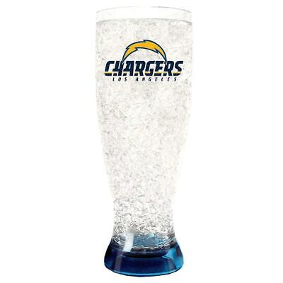 Los Angeles Chargers 16oz Crystal Pilsner Glass [NEW] NFL Cup Cold Drink Freezer Angels 16 Ounce Pilsner