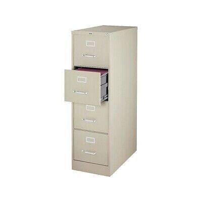Staples 4-drawer Vertical File Cabinet Locking Letter Puttybeige 25d