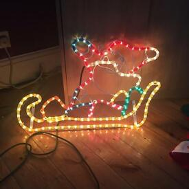 Christmas rope light Santa for outside