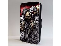 *NEW* Skull Grim Reaper Poker PROECTIVE LEATHER PHONE CASE COVER for iPHONE 7 PLUS