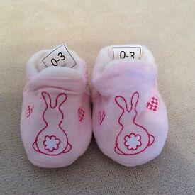 Jasper Conran Suedette slippers 0-3 months
