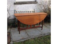 Retro Danish-Style Teak Oval Dining Table
