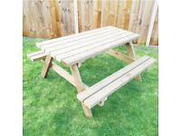 Pub Picnic Bench | Classic Garden Table | Pressure Treated | FREE delivery Norwich/ 4ft 5ft 6ft
