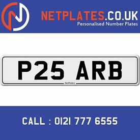 P25 ARB ARBAZ Parb Registration Number Private Plate Cherished Number Car Personalised Plate