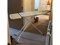 Brabantia ironing board with solid steam unit holder, 124cm long