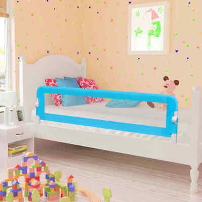 vidaXL Barandilla de Seguridad Cama de Niño Poliéster 120x42 cm Azul Colchón