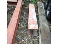 Used 60'' steel RSJ beam upright