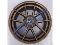 B15* 4X NEW ALLOY WHEELS 19 ALLOYS BMW 1 2 SERIES M135I M235I M240I M140I M SPORT BRONZE GOLD COPPER
