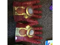 Electronic iron man gloves