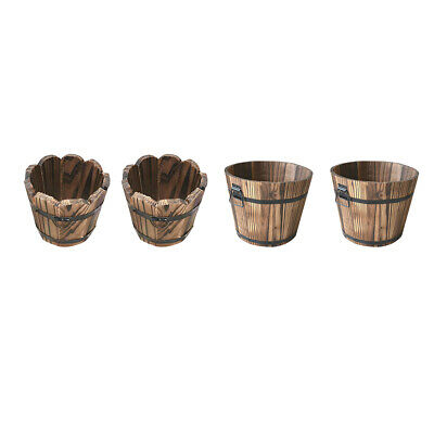 4 stücke Holz  Eimer Pflanzer Box Garten  Sukkulenten Container