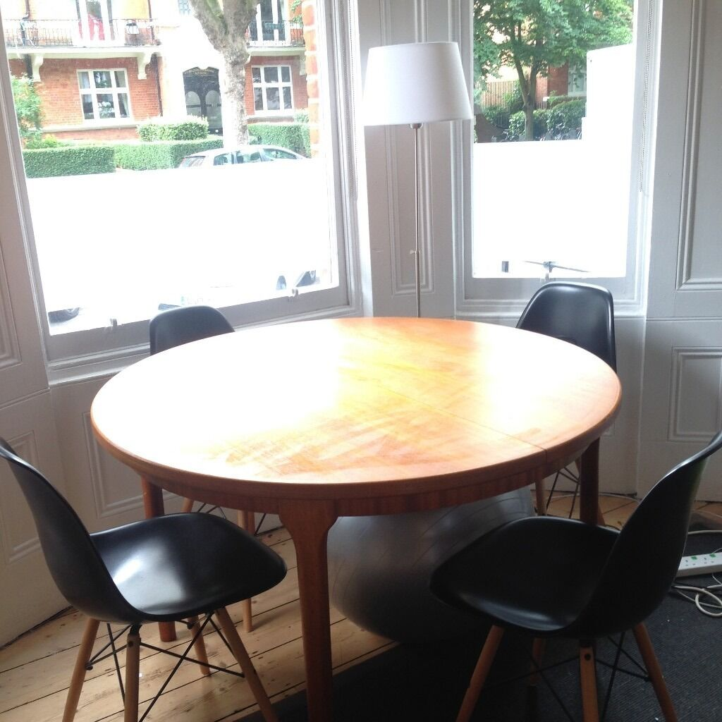 McIntosh Vintage Circular Modular Round Dining Table, Seats 4,6,8, Teak