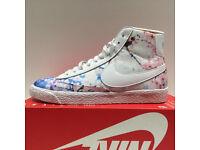 "Nike Women's Blazer Mid Print ""Cherry Blossom"", Size UK 4"
