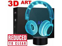 3D Illusion LED Night Light 16 Color Touch Table Desk Lamp Kids Gifts