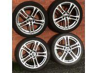 18 inch Audi R8 alloy wheel rims & tyres vw Caddy Van Golf Passat Jetta Seat Leon Audi A3 A4 Skoda