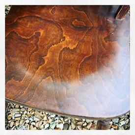 Oak and birch Wheelback chairs x 4