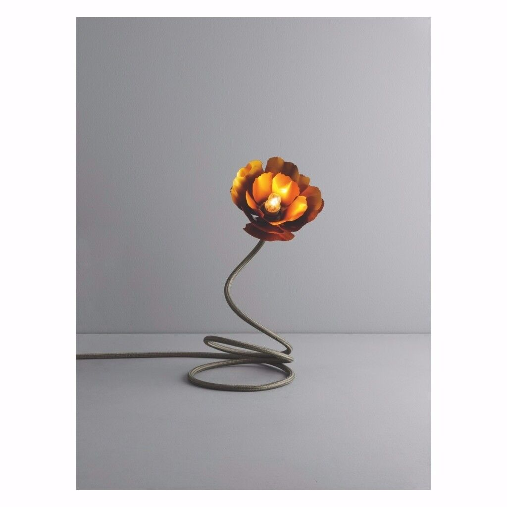 Gold Flower Lamp   Helena Christensen For Habitat