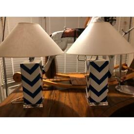 Pair of Safavieh Designer Glass Lights