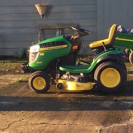 John Deere X165 Lawn Tractor and Trailer