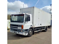 Left hand drive DAF 65 180 ATI 18 Ton Isothermic / Cold room box lorry. On springs suspension.