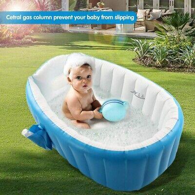 Baby Infant Inflatable Bathing Tub Seat Mom Helper Kid Toddler Portable Bathtub