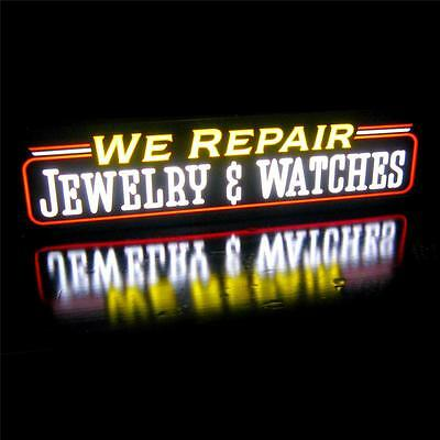 Neon Led Sign Light Box We Repair Jewelry Watches Horizontal Neon Alternative