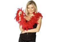 8 Red Feather Boas! Hen Do Fun!!!