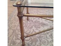 Elegant Brass and Glass Good Quality Coffee Table
