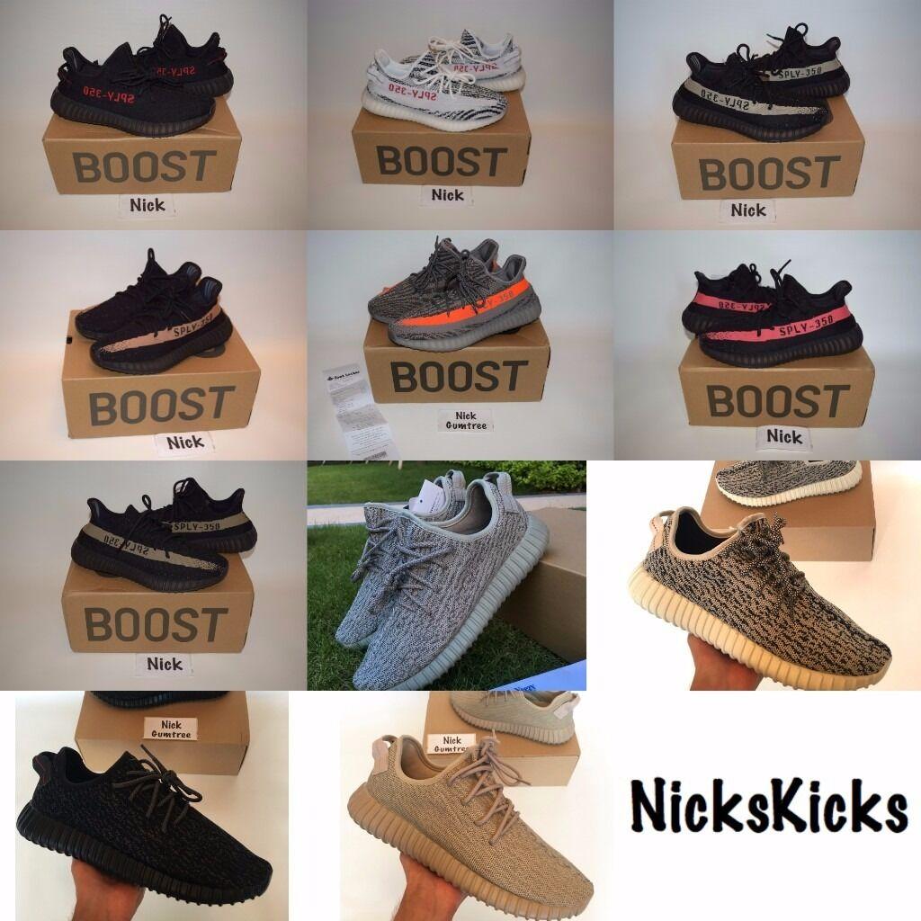 adidas Yeezy Boost 350 V2 UK3-12 Black / Red Black / Copper / Beluga