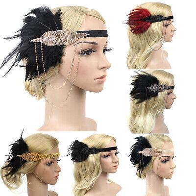 Charleston Stirnband 1920er Jahre Haarband Haarschmuck Damen Kostüm - 1920er Jahre Haar Accessoires