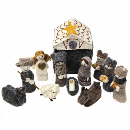 Felted Nativity 12-Piece Set