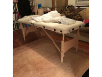 MASSAGE TABLE. Little used, excellent condition, complete with accessories.