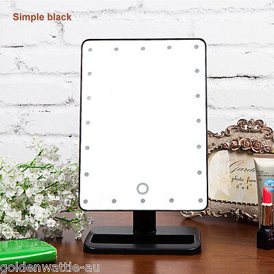20 LED Light Illuminated Touch Screen Make Up Cosmetic Tabletop Vanity Mirror UK