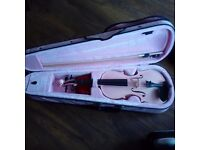 Pink childs violin