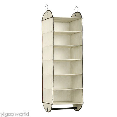 Hanging Closet Organizer Wardrobe Clothes Hanger Door Holder Rack Shelf Storage